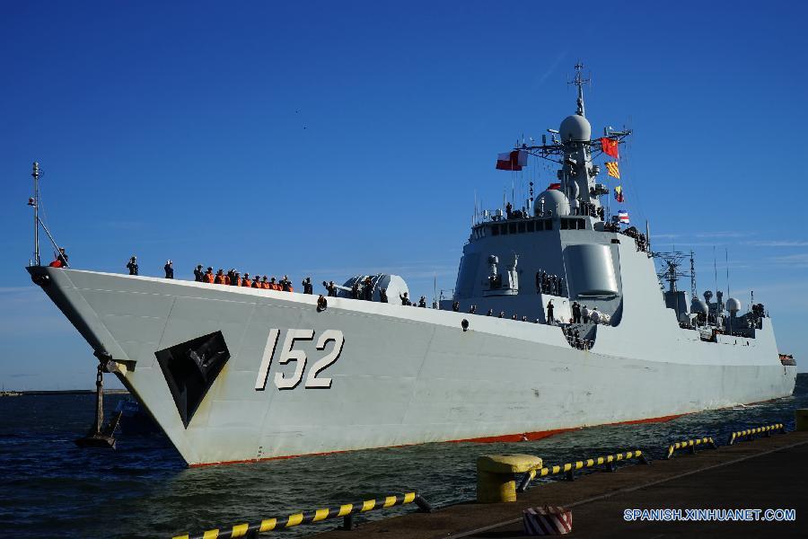 (国际)(2)中国海军舰艇编队抵达波兰进行首访