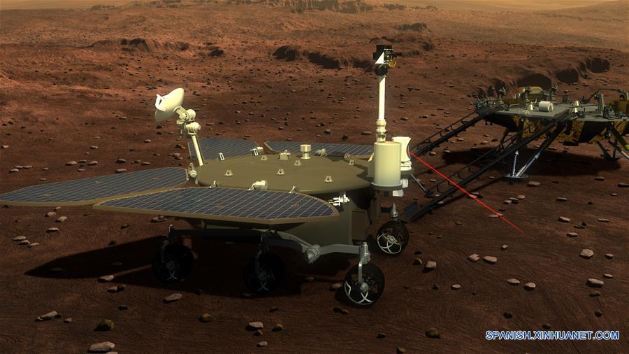 """(科技)(2)中国火星车亮相 有4个""""大翅膀"""""""
