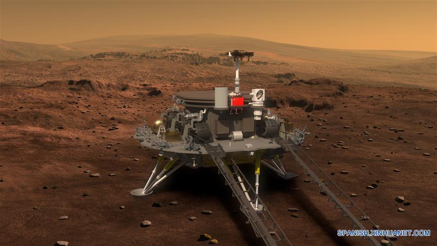 """(科技)(3)中国火星车亮相 有4个""""大翅膀"""""""