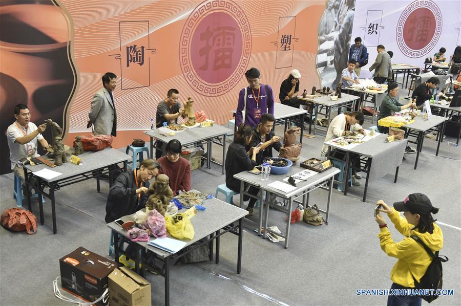 CHINA-ZHEJIANG-ARTE POPULAR-CONCURSO DE HABILIDADES