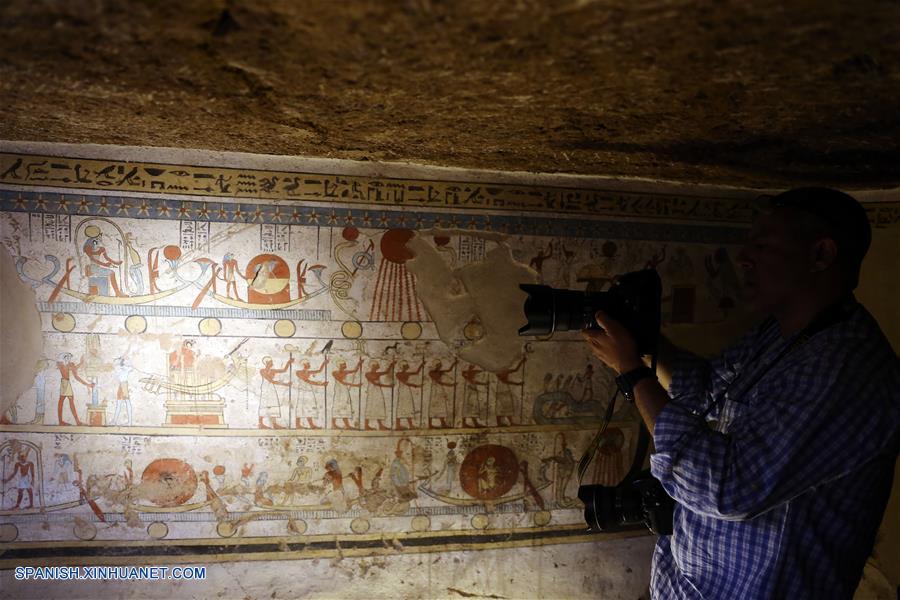 EGIPTO-SOHAG-TUMBA-ERA TOLOMEICA-DESCUBRIMIENTO