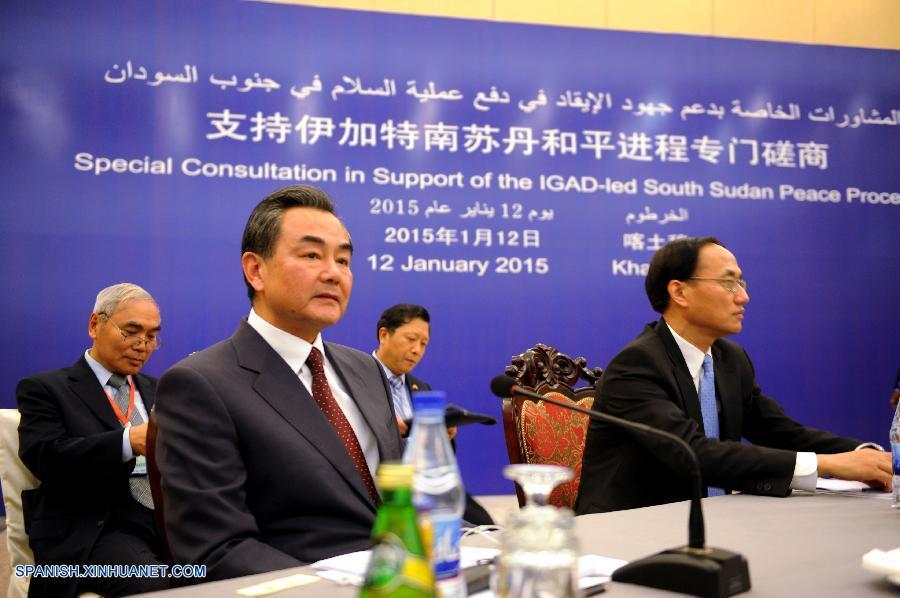 El ministro de Relaciones Exteriores de China, Wang Yi, propuso hoy en Jartum la iniciativa de cuatro puntos de China para promover el proceso de paz en Sudán del Sur.