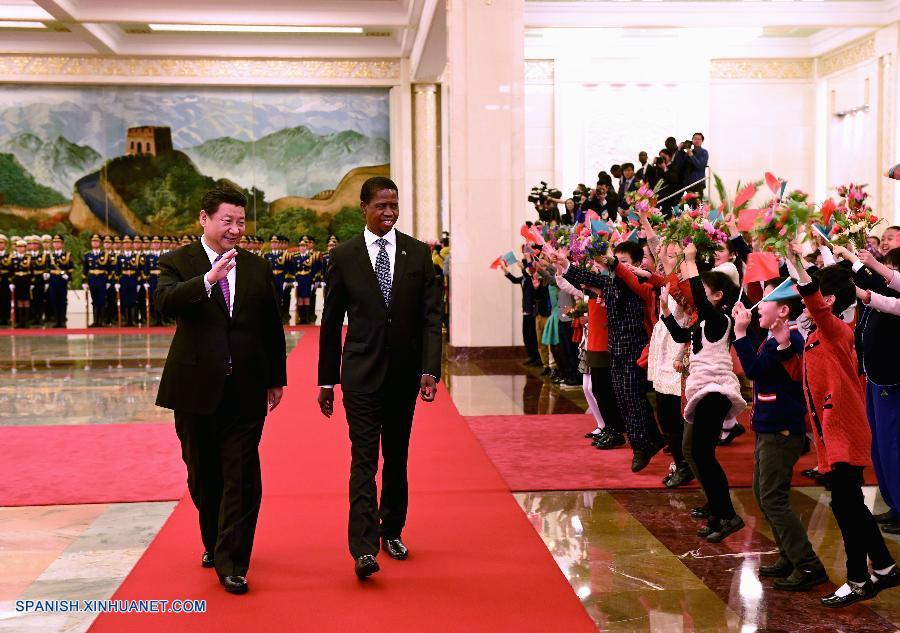 China y Zambia se comprometieron a fortalecer su amistad tradicional y expandir su cooperación hoy lunes en Beijing.
