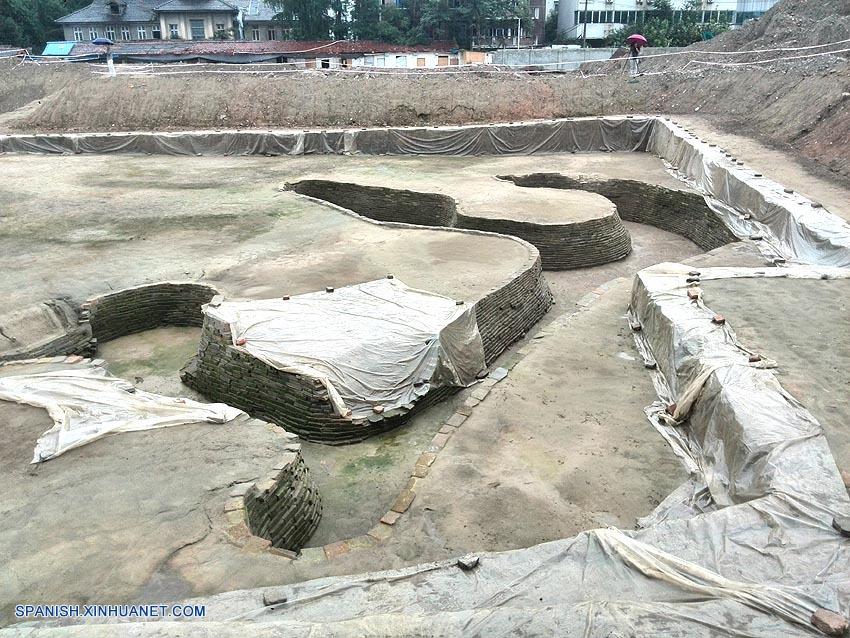 Sisa-sisa taman Buddhis berusia lebih dari 1.200 tahun ditemukan di Chengdu, Tiongkok.