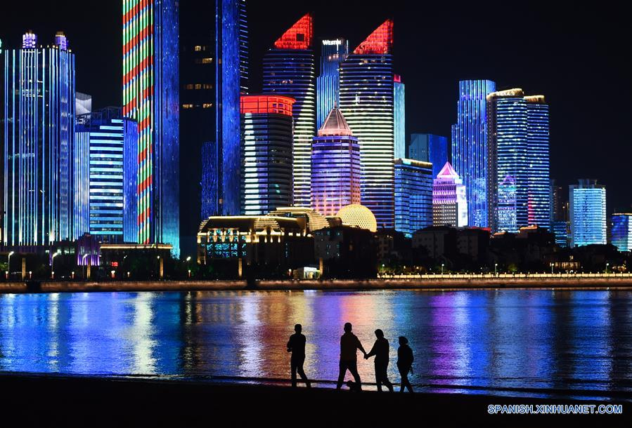 CHINA-QINGDAO-SCO SUMMIT-NIGHT VIEW(CN)