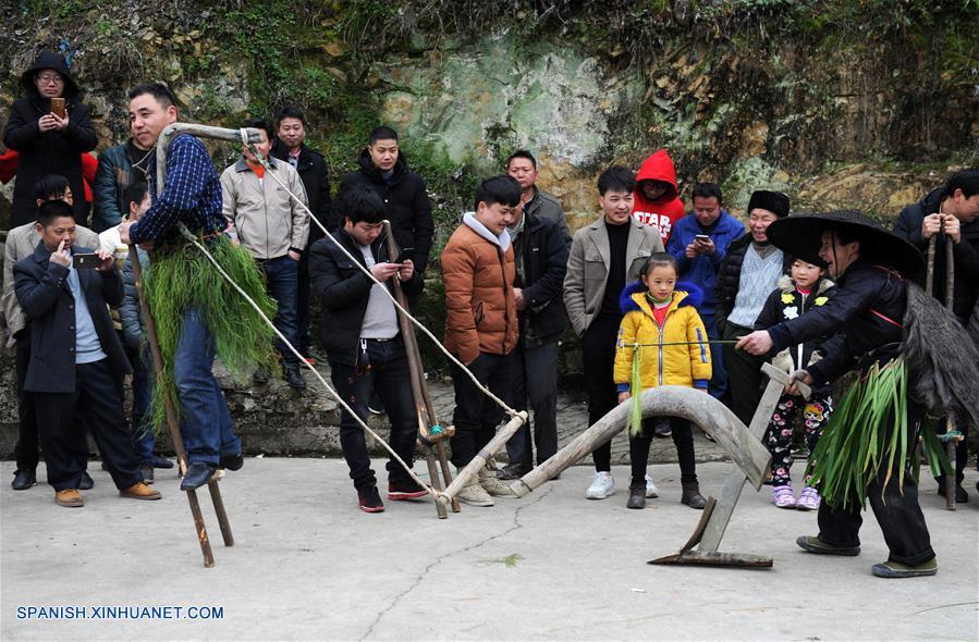 CHINA-GUIZHOU-FESTIVAL DE PRIMAVERA-CELEBRACION