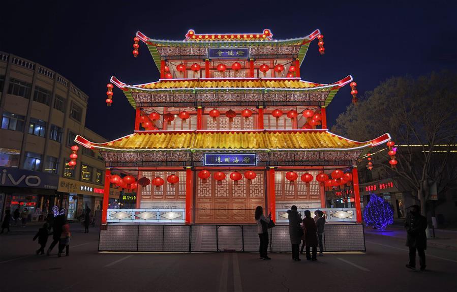 CHINA-GANSU-FESTIVAL DE LOS FAROLES-CELEBRACION