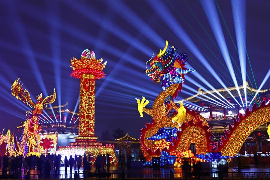 CHINA-SHAANXI-FESTIVAL DE LOS FAROLES-CELEBRACION