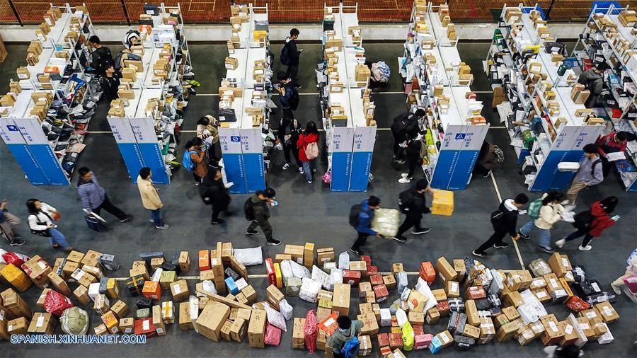 CHINA-JIANGSU-SECTOR DE ENTREGAS URGENTES-CRECIMIENTO-SERIE