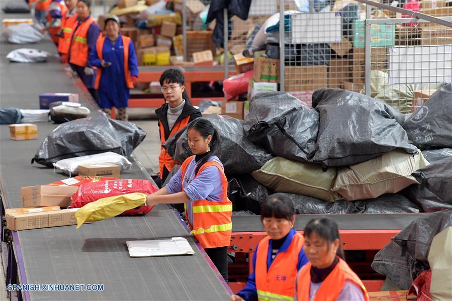 CHINA-JIANGXI-SECTOR DE ENTREGAS URGENTES-CRECIMIENTO-SERIE