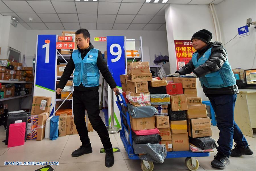 CHINA-SHANXI-SECTOR DE ENTREGAS URGENTES-CRECIMIENTO-SERIE