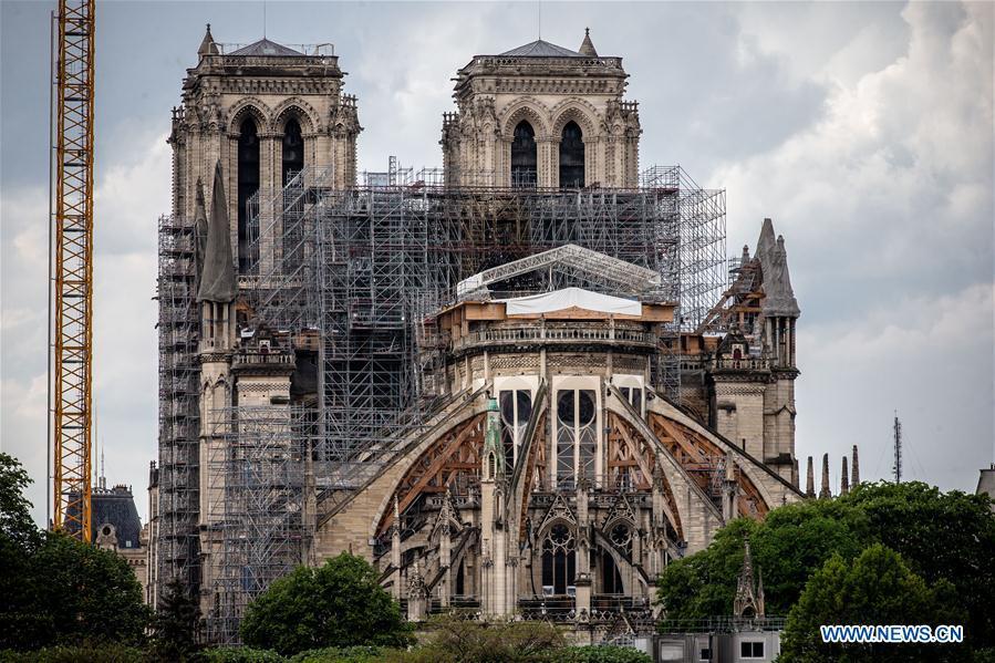 Reanuda La Renovación De La Catedral De Notre Dame En Paris Spanish Xinhuanet Com