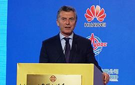 (Franja y Ruta) Macri resalta capacidad de empresas chinas de aportar conectividad  a infraestructuras en Argentina