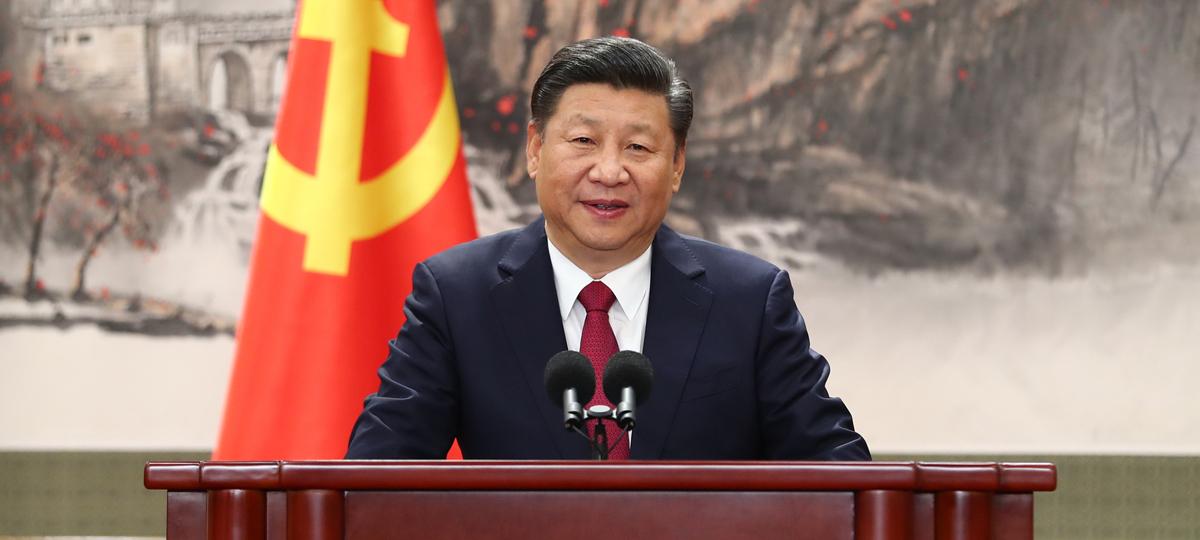 Xi Jinping y otros miembros de la cúpula del PCCh se reúnen con la prensa