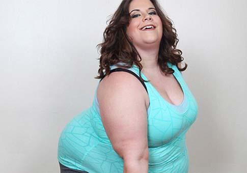 Imagen de una chica gorda