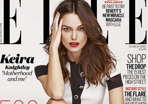 Keira nightley en portada de ELLE UK