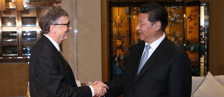 Presidente de China se reúne con Bill Gates