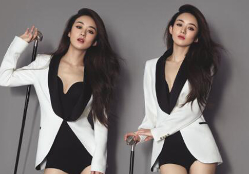 Zhao Liying se luce en la revista