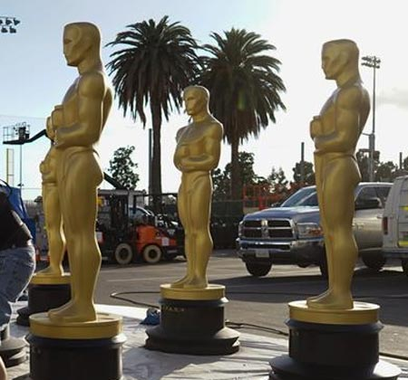 Estatuas del Oscar en Hollywood
