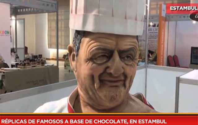 Réplicas de famosos a base de chocolate, en Estambul