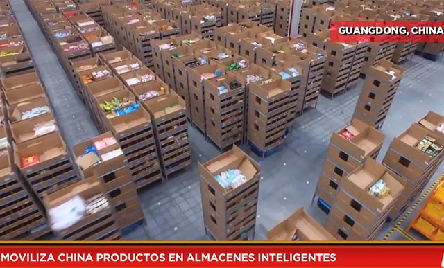 Moviliza China productos en almacenes inteligentes