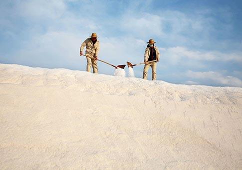 Jiangsu: Campo de sal en Lianyungang