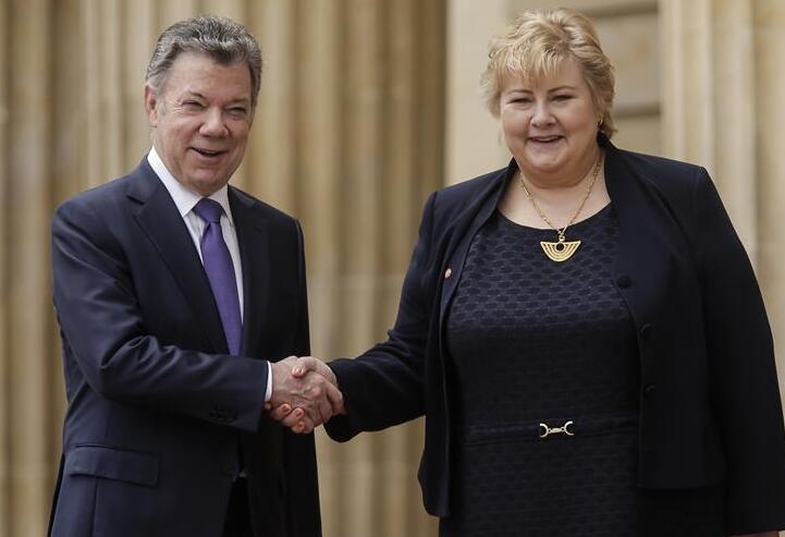 Presidente de Colombia recibe a la primera ministra de Noruega