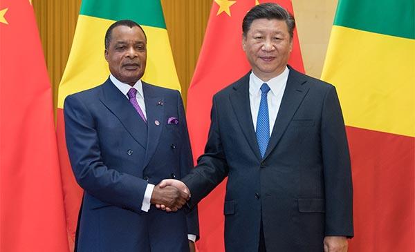 Xi Jinping se reúne con presidente de la República del Congo