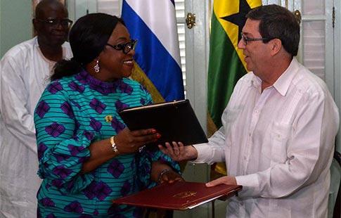 Acuerdan Cuba y Ghana sostener consultas diplomáticas regulares