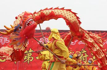 Danza del dragón en Hebei, China