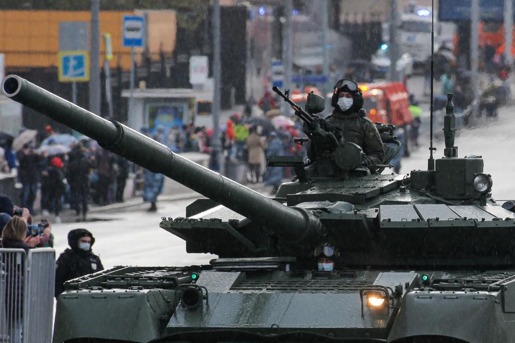 Ensayo del desfile del Día de la Victoria en Moscú, Rusia
