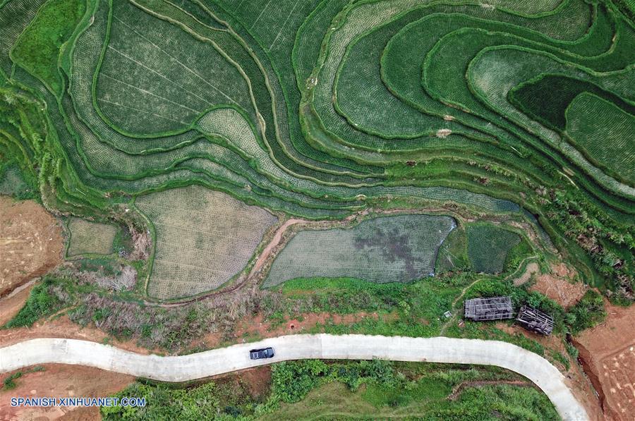 Guizhou Paisaje De Campo De Terrazas De Wuniangxi En Villa